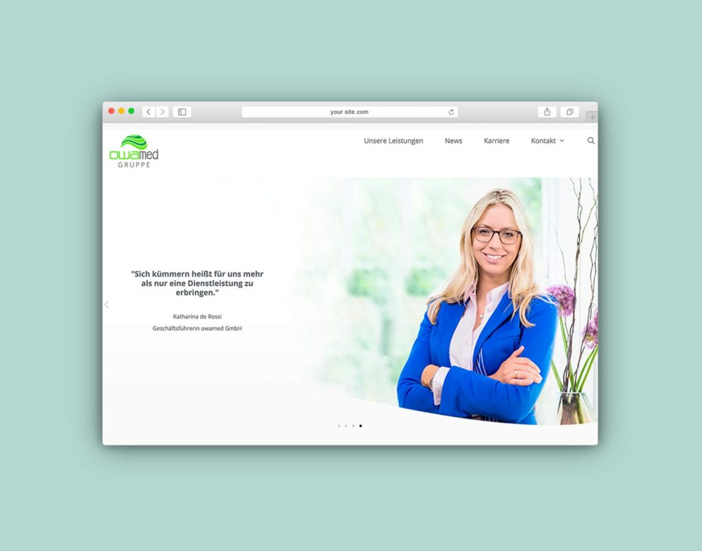 Relaunch Website der owamed Gruppe